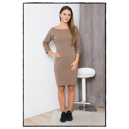 Lezser ruha barna színben