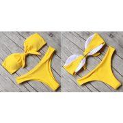 Szivacsos pánt nélküli bikini 4 színben