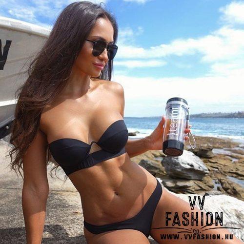 Fekete push-up bikini