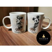 Mickey & Minnie Mouse páros bögre