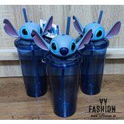 Stitch 700 ml-es pohár szívószállal