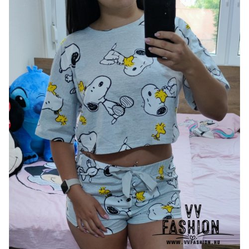 Snoopy cropped fazonú pizsama szett