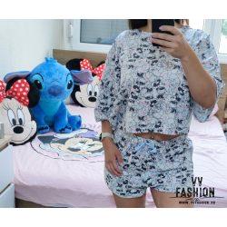 Mickey & Minnie Mouse cropped fazonú pizsama
