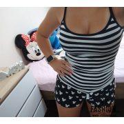 Mickey Mouse fekete-fehér csíkos pizsama