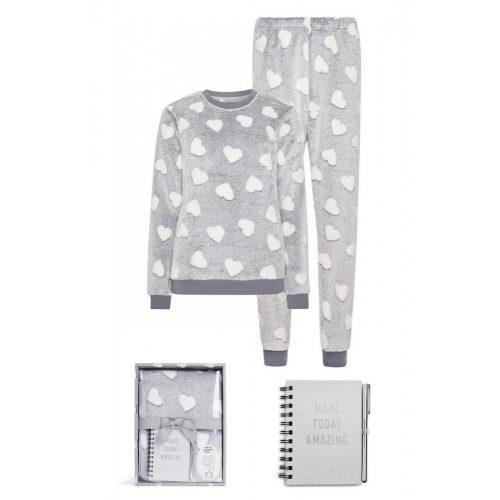 Puha pizsama szett díszdobozban ajándék notesszal és tollal