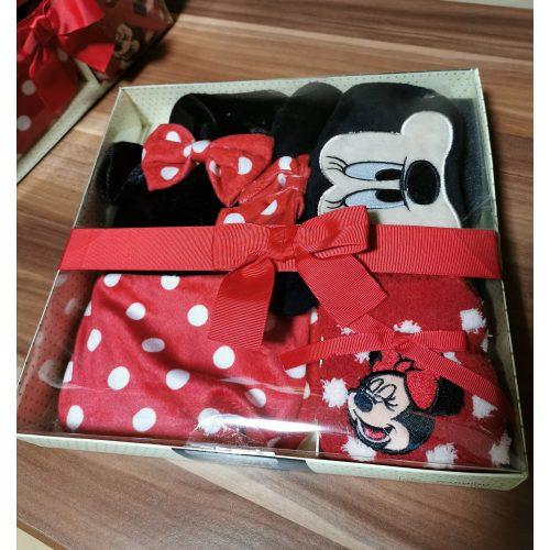 Minnie Mouse ajándék szett (melegvizes palack, alvómaszk, zokni)