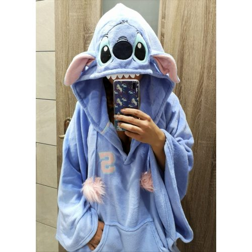 Stitch kapucnis pléd / takaró / köntös / poncsó / pizsi