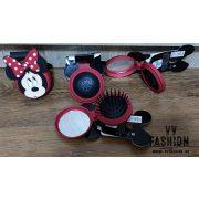 Minnie Mouse kerek, kinyitható fésű
