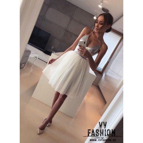 Ezüst-fehér ruha