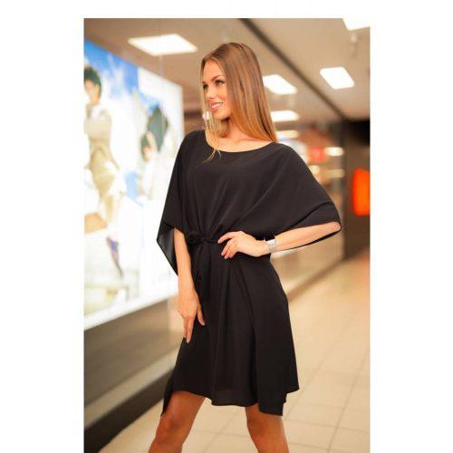 Kaftán miniruha fekete színben