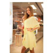 Kaftán miniruha sárga színben