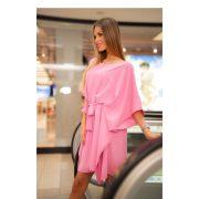Kaftán miniruha rózsaszín színben