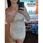 Csipkés fehér ruha